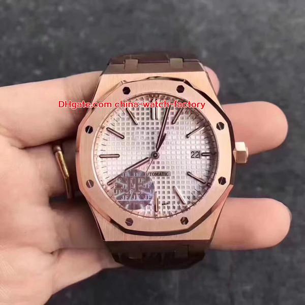 6 Style Perfect Edition V2 41mm Offshore 15400 15400ST.OO.1220ST.01 01 03 Bracelet Cuir Suisse CAL.3120 Mouvement Automatique Montre Homme Montres