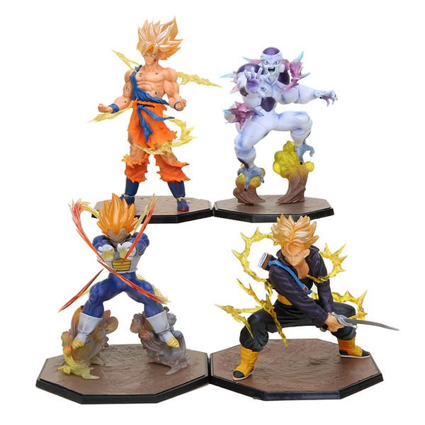 dragon ball 14-18cm Dragon Ball Z Super Saiyan Goku Son Gokou Vegeta Trunks Freeze Freeza PVC Action Figure Model Collection Toy Gift