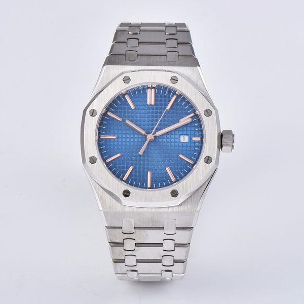 Corgeut Uhr 41mm blaues Zifferblatt Saphirglas Edelstahlarmband Japan Miyota Automatikwerk Herren PS-18