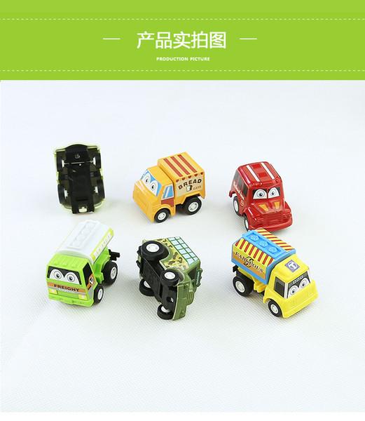 Coche de juguete para niños mayorista modelo de bicicleta de devolución de bicicletas mini tarjeta de ingeniería de la policía 6 regalos por bolsa
