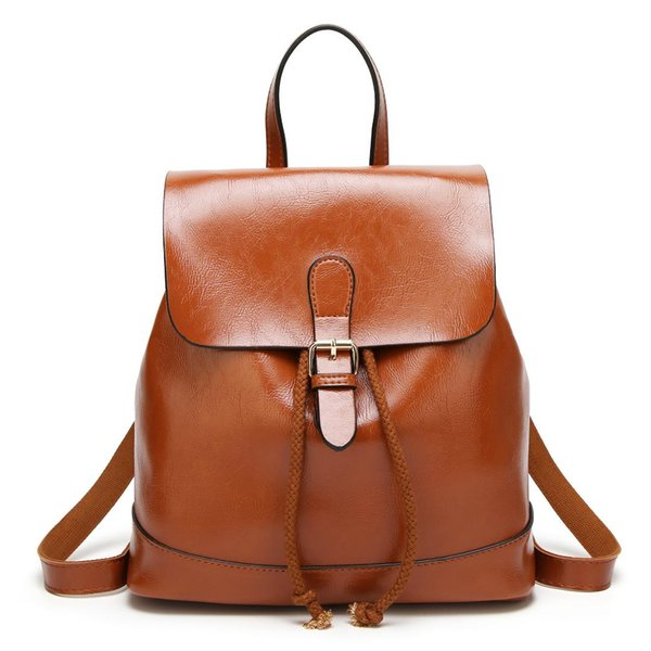 Fashion Soft Leather Backpack Female Designer High Quality School Bags Women Simple Large Capacity Travel Bag