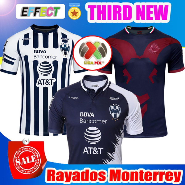 eb895796f Thailand Quality 2018 2019 Rayados Monterrey Soccer Jerseys 18/19 Home Away  Third Mexico Club