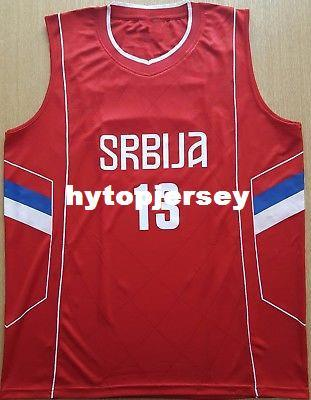#13 RADULJICA Camiseta Canotta Serbia EUROBASKET 2017 Basketball Jersey Embroidery Stitched Custom any Number and name Jerseys XS-6XL Vest J