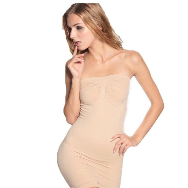 여성 이음매없는 슬리밍 바디 셰이퍼 드레스 튜브 컨트롤 슬립 바디 셰이퍼 컨트롤 허리 Cincher 컨트롤 Shapewear