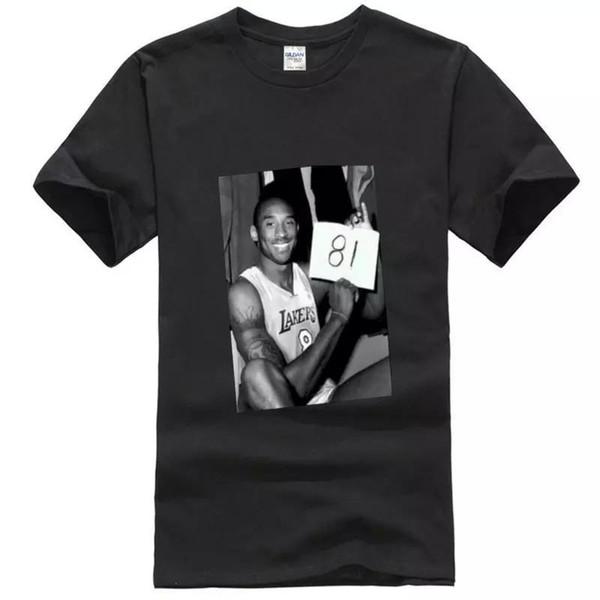 Kobe Bryant 81 versão 2 do jogo do ponto T O cliente de L BlackDear, todas as camisas de T é tamanho asiático, verifica por favor a carta do tamanho ao fazer um pedido!