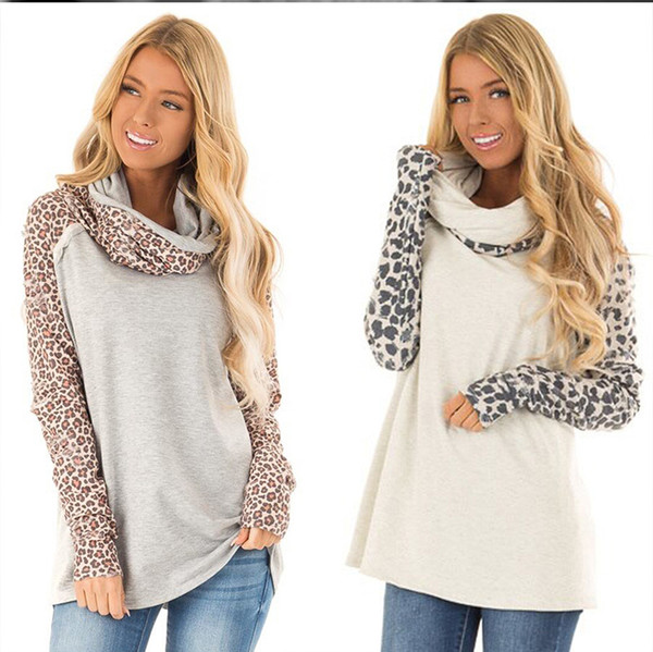Luxury Designer Leopard Blouse Women Long Sleeve Autumn Shirt Streetwear Plus Size Scarf Collar Pleated Loose Top blusas femininas de verão