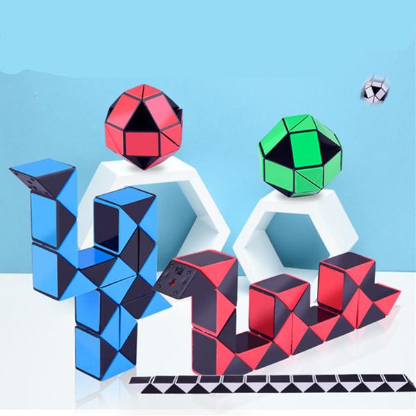 Mini Magia Cobra criativa 3D Puzzle Cobra Forma mutável para a criança Magic Cube jogo Puzzle Twisty Apaziguador Cobra Brinquedos frete grátis