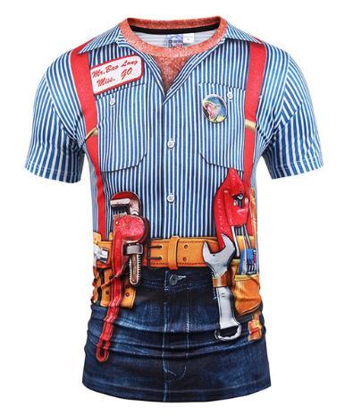 Newest Fashion Funny Fake Vest Tattoo T-Shirt 3D Printed Women/Men Summer Short Sleeve Unisex T-shirt Casual Tops Tees 3D T-Shirt K657