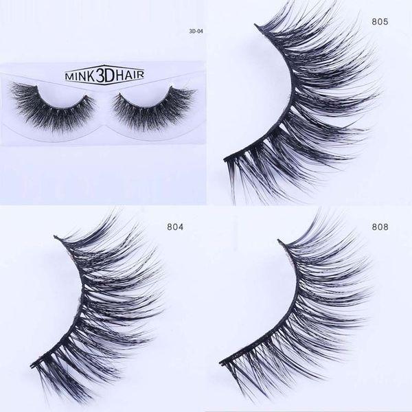 100Pairs/lot Mink False eyelashes Crisscross Fake Eyelashes for party Wedding Bride Cross Natural Looking Strip Eye lashes