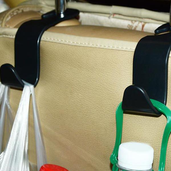Clips voiture Crochet de siège auto Hanger Porte Têtière Sac pour sac voiture bourse tissu d'épicerie de stockage automatique Fastener accessries Fastener