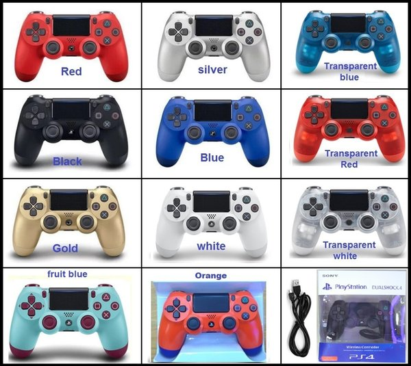 TOP quality Wireless Controller Gamepad for sony PS4 Joystick with Retail package LOGO Game Controller EU version