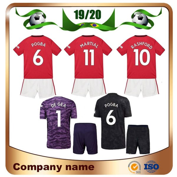 1ceda719053d5 19 20 united 6 pogba kid kit occer jer ey 2019 home red alexi mata children