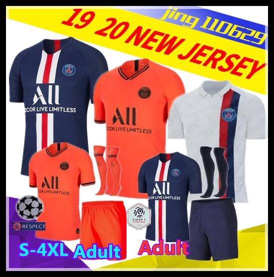 S-XXL 19 20 PSG Erwachsene Kinder Trikots 19 20 MBAPPE VERRATTI CAVANI DI MARIA MAILLOT DE FOOT Kind Paris Kinder Fußball Trikots