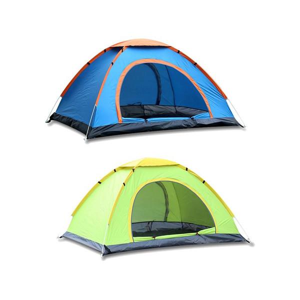 Neue automatische outdoor oxford tuch zelt tragbare camping zwei-personen schnell öffnen camping zelt glasfaserstange strut material