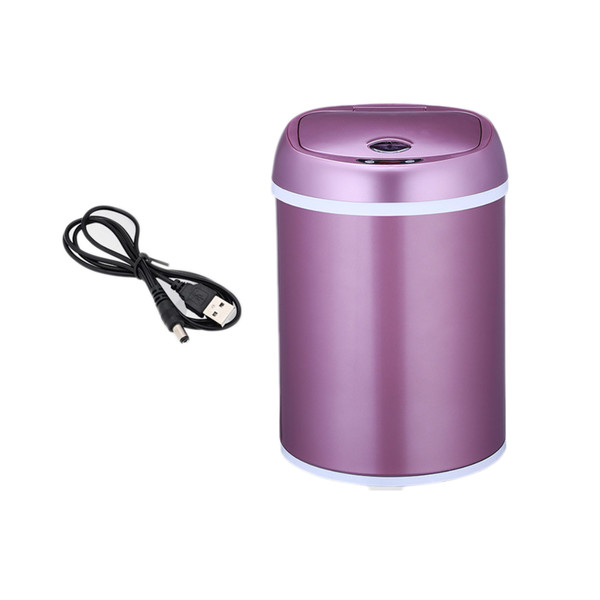 Small Automatic Trash Can Touchless Intelligent Induction Garbage Bin With Inner Bucket Contactless Circulator Quiet Lid Close Can White