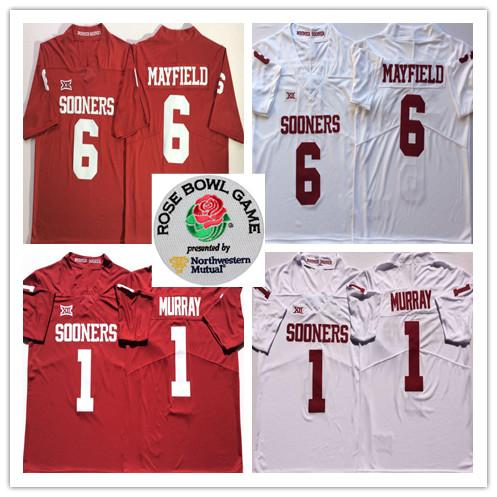 size 40 7c9e0 16a19 2019 2019 #1 Kyler Murray Oklahoma Sooners 6 Baker Mayfield Orange Bowl  Jersey Mens Youth Stitched College White Red Jerseys Top Quality From ...