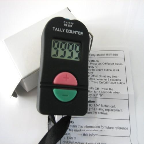 top popular New Hand Held Electronic Digital Tally Counter Clicker Security Sports Gym School High Quality BLACK COLOR 100 pieces u5 2020