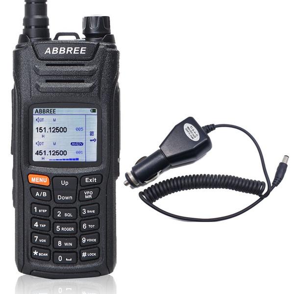 Abbree AR-F6 Walkie Talkie 6 Bantları Çift Ekran Çift Bekleme 999CH Çok fonksiyonlu VOX SOS LCD Renkli Ekran Radyo + Araç şarj