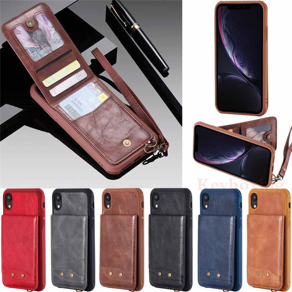 For Apple iPhone Xs Max XR X 5s 6s 7 8 Plus Flip Leather Wallet Card Holder Bumper Case Cover
