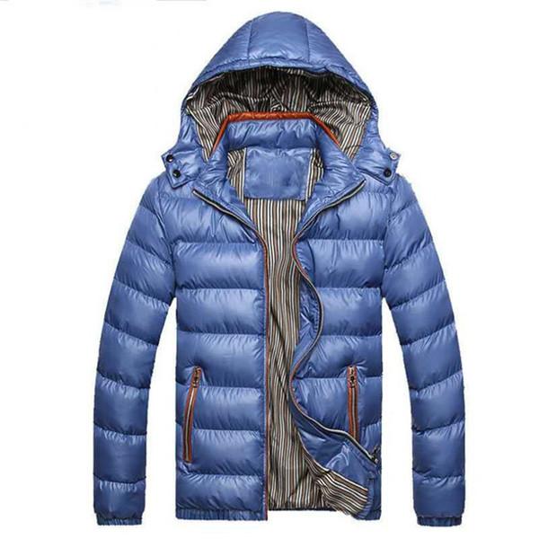 2019 Inverno Designer Mens spessa giacca di marca con cappuccio Giù parka Cappotto Sport di Strada Windbreaker casuale caldo Zip Oversize alta Outwear B101070L