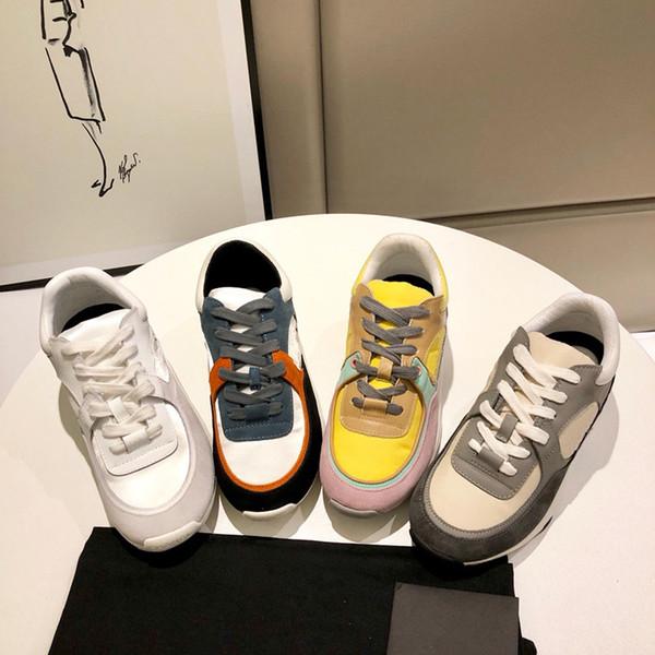 2019 NOVITÀ Scarpe casual in pelle di lusso Scarpe da donna design da uomo scarpe da uomo in vera pelle colore misto wl19060103