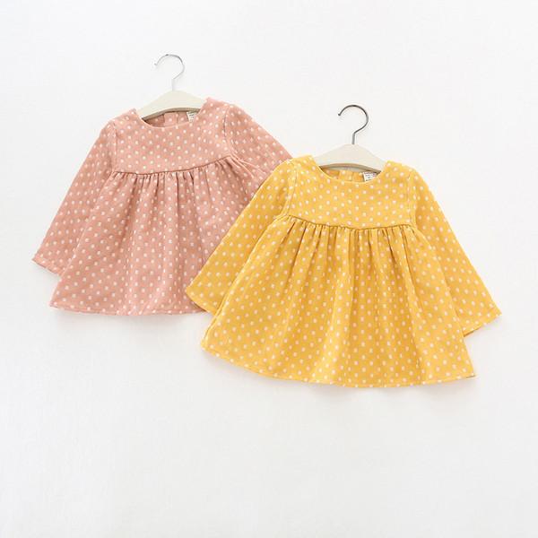 2019 hot sale spring Autumn cotton Kids clothes newborn Girls infant dress baby clothing baby girls dress vestido infantil