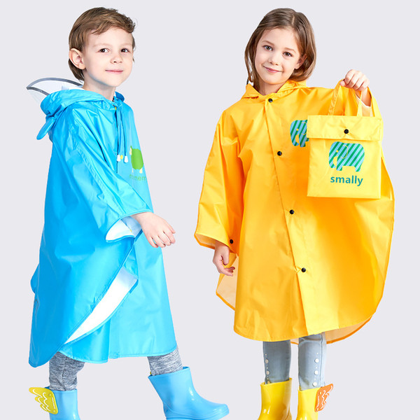 Kocotree Raincoat For Children Cartoon Kids Girls Rainproof Rain Coat Waterproof Poncho Boys Rainwear Kindergarten Baby Rainsuit Q190603