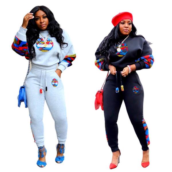 pezzi Tow set di marca hoodies + pantaloni leggings donne abiti casual lettera tuta da jogging sportivo autunno inverno abbigliamento sportivo di stampa Sweatsuit 2246