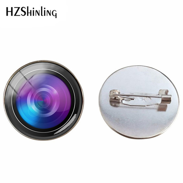 Mode Charming Kamera Objektiv Bilder Broschen Handgemachten Schmuck Pin Kunst Gedruckt Foto Brosche Pins Geschenke für Männer