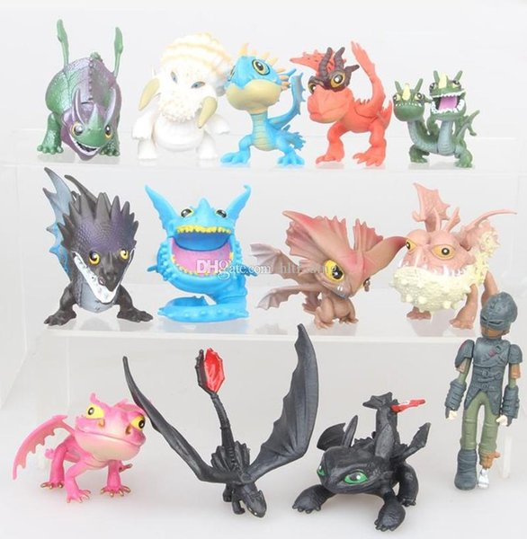 13 Styles How to train your dragon toys New Cartoon Action Figures 4-7cm PVC Gift For Kids C6181