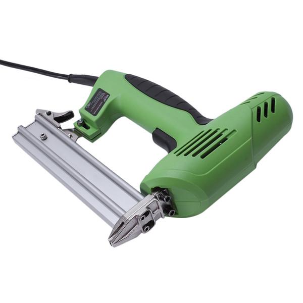 Freeshipping 2 in 1 inquadratura Tacker chiodo elettrico graffatrice Ac220V elettroutensili cucitrice 45 aghi / min per la lavorazione del legno mobili noi spina