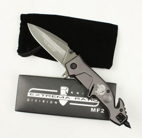 EXTREMA RATIO MF2 X02 ajudar rápido punho de aço aberto tático faca faca de presente de natal para homem coleção faca 1 pcs FREE SHIPPIN