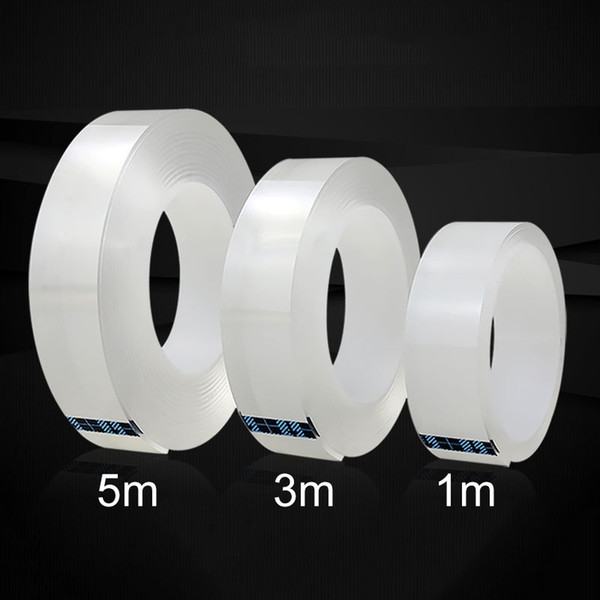 best selling 1 3 5  2MM Nano Magic Tape Double Sided Tape Transparent No Trace Acrylic Waterproof Adhesive Tape Cleanable Free Shipping