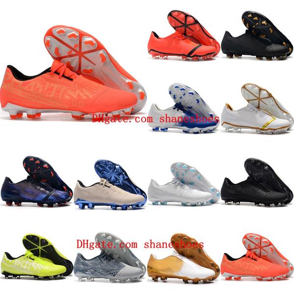 2020 высших качество мужских футбольных бутс Phantom VNM Elite FG открытый футбол утки кожаных бутсы низкой лодыжки Scarpe да калсио белого