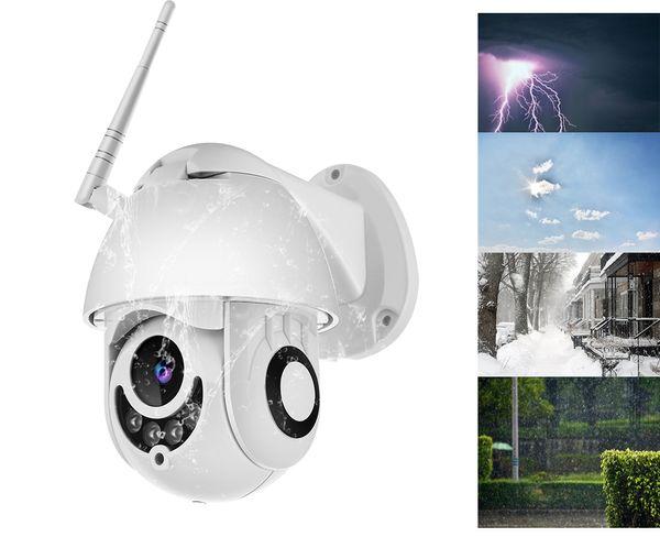 4x digital zoom Super mini P2P Onvif outdoor waterproof HD 1080P WIFI PTZ Camera