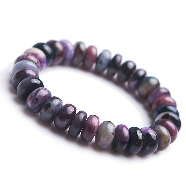 2018 Drop Shipping Colorful Genuine Sugilite naturale Gemma Marquise Abacus Bead Crystal Natural Stone Bracciale 12 * 9mm