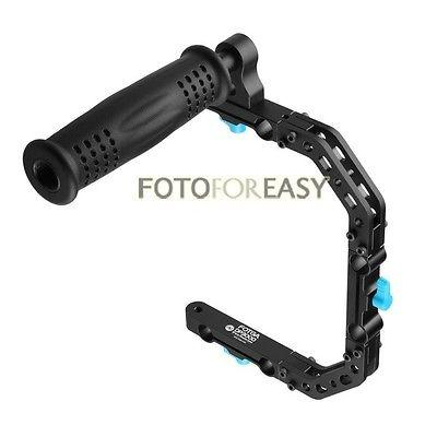 Freeshipping DP3000 C-Shape Support Cage Bracket +Top Handle Grip for 15mm Rod DSLR Rig