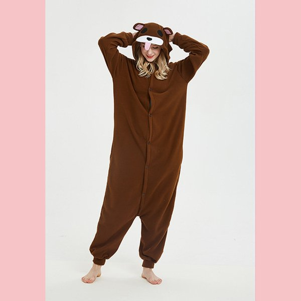 Comfortable Warm Soft Pajamas Suit Loose Onesie Animal Cosplay Costume Homewear Winter And Autumn New Women Onepieces