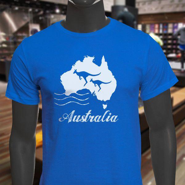 AUSTRALIA KANGAROO PROUD PRIDE DOWN UNDER TRAVEL Mens Black Sweatshirt
