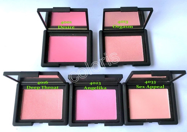 new makeup face blush single bronze color blush with mirror 4.8g desire orgasm deep throat angelika appeal color