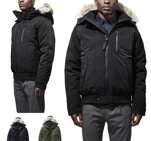 Fashion Brand 2020 Canada Winter Men Outdoor Matte Down Jacket Mens Casual Hooded Down Coats Goosefeather male warm jackets Parkas homme57