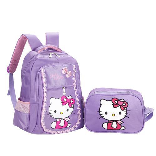 Purple B School Bag