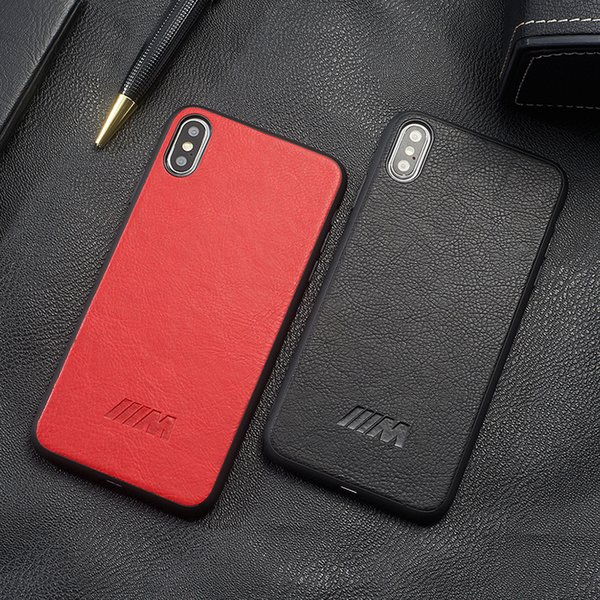 High Quality PU leather Phone Case For iphone x xs max xr 10 7 6s 8 7Plus 8plus 6 Plus Soft Silicone Cover Racing Car Logo BMW AMG Hull Capa