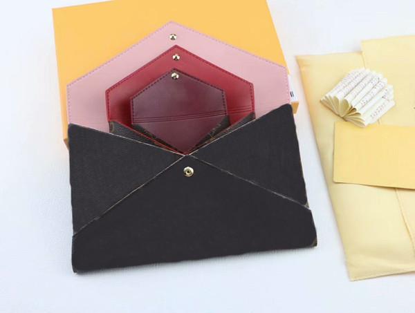 Tasarımcı lüks çanta çantalar 3 takım kadınlar marka cüzdan Kart tutucu Çantalar Moda Saklama çantası kutusu ile 62034