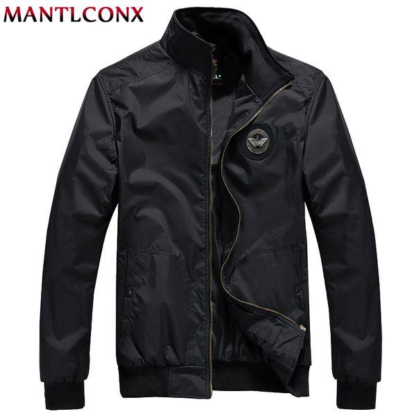 MANTLCONX New Casual Jacket Uomo Primavera Autunno Capispalla Stand collare Giacca Uomo Outwear Marca Casual Zipper Windbreak