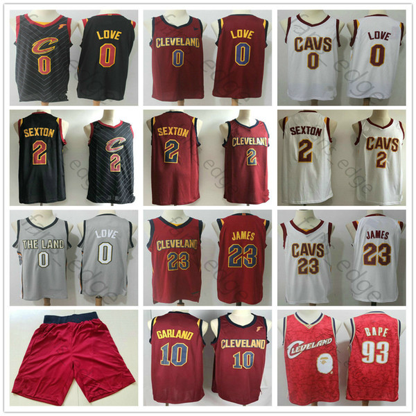 size 40 b47ca c4746 2019 Mens Cleveland Kevin Love Collin #2 Sexton Jerseys Red ...