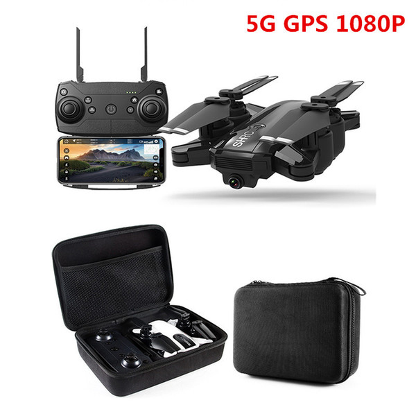 Neue Drohne GPS 1080P HD Kamera 5 GHz Follow me WIFI FPV RC Quadcopter Faltbarer Selfie Live Video Höhe Halten Sie die automatische Rückkehr RC Dron