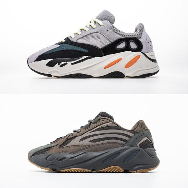 2019 Аутентичные 700 V2 Аналоговый Eg7596 Kanye West Человек Женщины Повседневная обувь Runner волна Соль Сиреневый Статическая Инерционные Geode Zebra Повседневная обувь