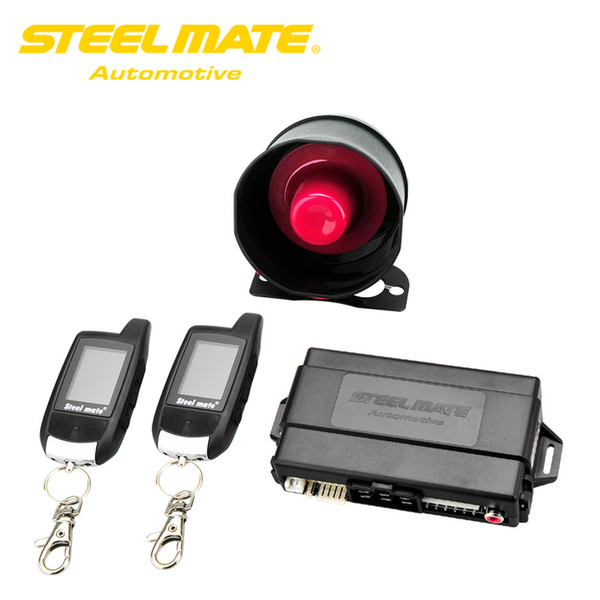 Freeshipping Steelmate Car Alarm Keychain 888E Two LCD Alarm Auto Security System with Remote Start System Keyless Entry Door Button Device
