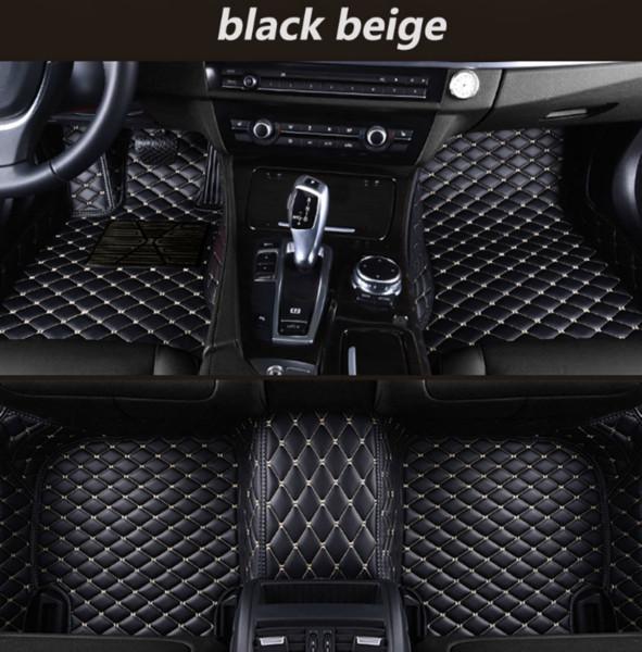 Alfa Romeo Stelvio 2017-2018 araba mat lüks su geçirmez deri aşınmaya dayanıklı yeşil araba paspası ücretsiz kargo ile çevrili
